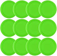 Coopay 12 Pieces Home Air Hockey Pucks 2.5 Inch Heavy Replacement Pucks for Game Tables Equipment Accessories,