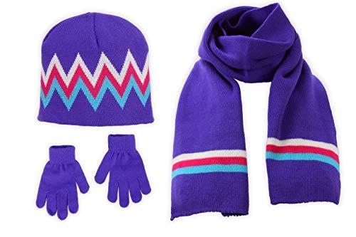 S.W.A.K Girls Knit Hat, Scarf An...