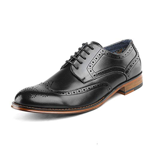- Bruno Marc Men's Dress Shoes Wingtip Oxford Paul_1 Black Size 7 M US