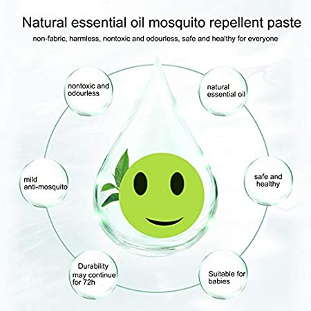 Techrace Mosquito Patches Anti-Moustiques Autocollants R/épulsifs Anti-moustiques Correctifs DIY Cartoon Expressions r/épulsif Naturelle Pansement Anti-Moustiques