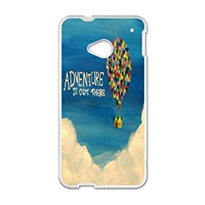 HTC One M7 Phone Case White Adventure Is Out There HJF689092