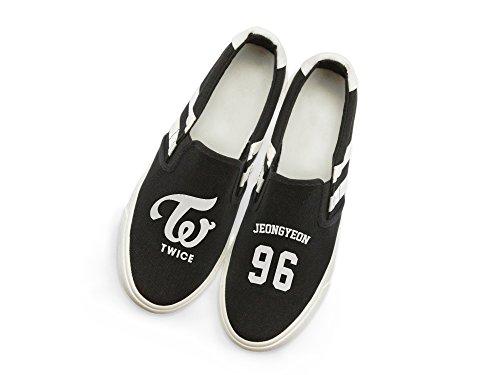 Shoes with Canvas Twice Card Fan Support Jeongyeon Fanstown Kpop Fanshion Memeber Style Hiphop lomo Sneakers RqIKfwMPxg