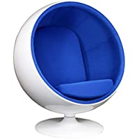 Modway Eero Aarnio Style Ball Chair in Blue