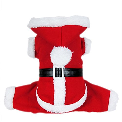 Dogloveit Santa Christmas Costumes Pet Dog Cat Xmas Outfit for Pet Dogs, Medium