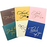 Thank You Cards with Envelopes, Gift Cards With Stickers, Bulk Assorted Postcard Set for Notes, Weddings, Businesses, Office, Teacher, Bridal,Baby Showers and Holiday Greeting,6 Unique Designs 4.7x4.7