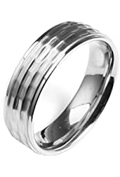 Men Stainless Steel Simple Ring Wedding Band,Silver