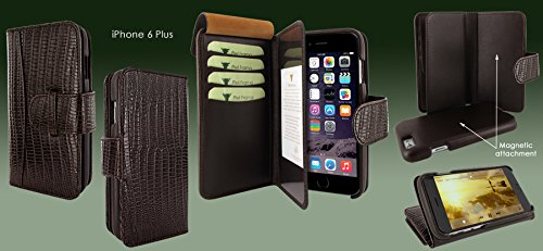 Piel Frama 717 Brown Lizard WalletMagnum Leather Case for Apple iPhone 6 Plus / 6S Plus by Piel Frama (Image #5)