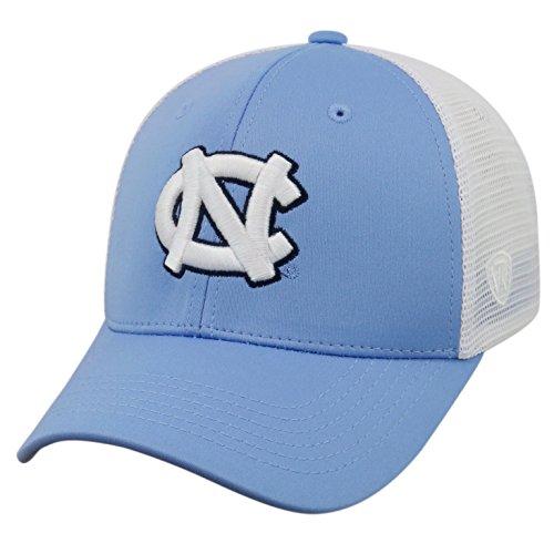 Top of the World NCAA-Ranger Trucker Mesh-Adjustable Snapback Hat Cap-North Carolina Tar Heels-White -