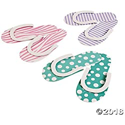 Spa Party Flip flops - 12 pair