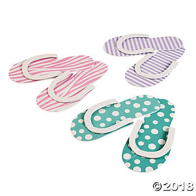 Spa Party Flip flops - 12 pair by Fun Express