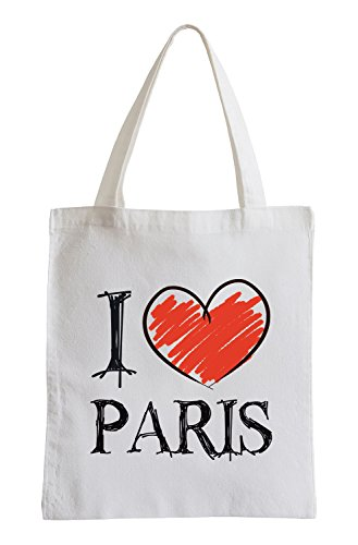 I love Paris Fun Jutebeutel