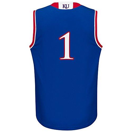 NCAA Kansas Jayhawks Men's Replica Jersey, Large, Blue