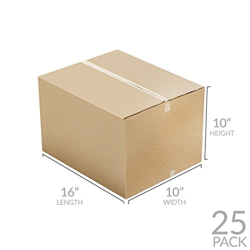"Uboxes Brand Box Bundles: (25 Pack) Small Moving Boxes 16""x10""x10"""