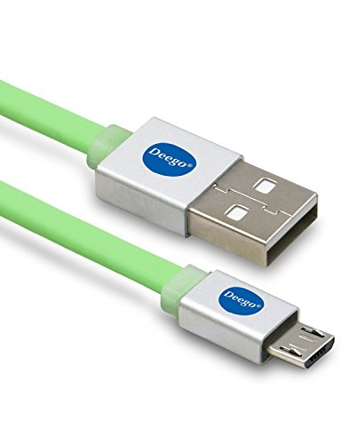 USB Cable for Kindle , Micro USB 2.0 Flat Cable, Deego 10ft High Speed Micro-USB to USB Cable for Amazon Kindle Fire, HD, HDX, Kindle Paperwhite, Voyage, Oasis, Amazon Tap - Green (Kindle Charger Cord Replacement compare prices)