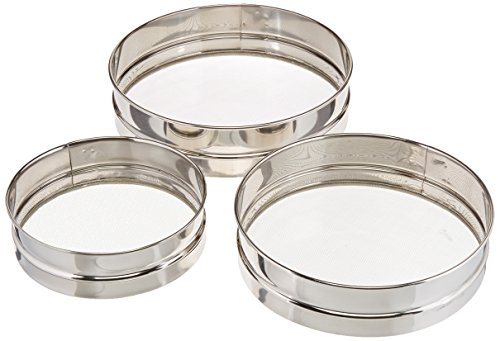 [Matfer Bourgeat 115020 Stainless Steel Mesh Sieves, Set of 3, 7