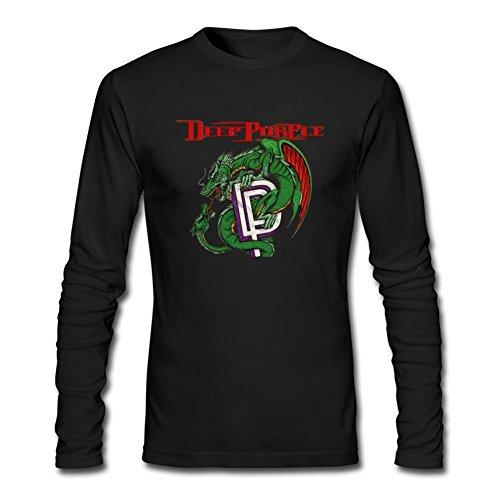 Men's Deep Purple DIY Cotton Long Sleeve T Shirt