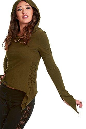 Gekko - Camiseta de manga larga - para mujer Verde