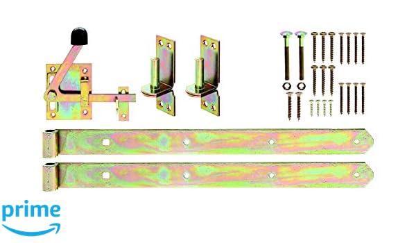 galvanizado Juego de herrajes para verja de maderas entrecruzadas Gah-Alberts 216511