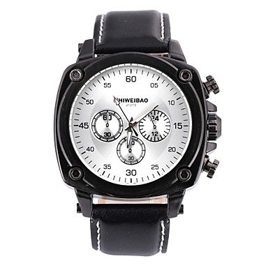 Sports Watches Relojes de Hombre Hombre Reloj de Pulsera Cuarzo Japonés Piel Banda Negro Marrón Marca