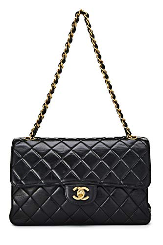 CHANEL Black Quilted Lambskin Double Sided Classic Flap Medium (Pre-Owned)