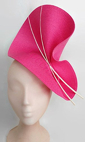 Pink and white fascinator-Pink wedding hat-Fuschia pink fascinator-Pink  Ascot hat 5787c9e8392