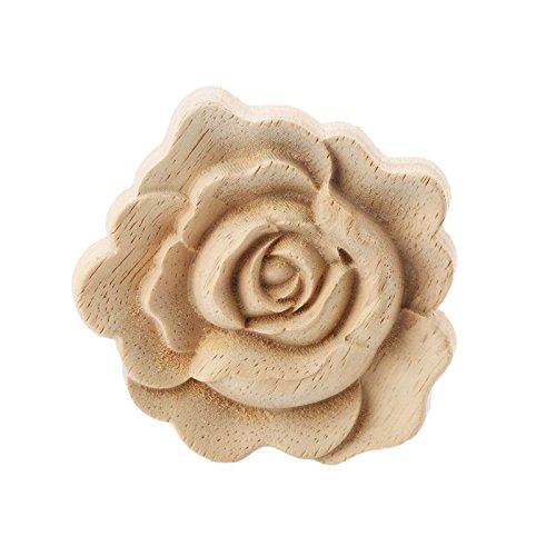 d Corner Onlay Applique Door Cabinet Rose Unpainted European Style ()
