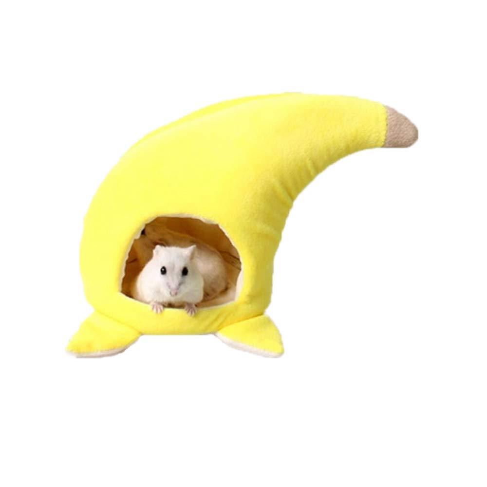 vmree Banana Style Hamster Plush Cage Bed Small Squirrel Chinchilla Sleep Rest Cushion 5.91× 4.33) u.vmree
