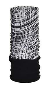 O3 O3MFHA012 Fleece Rag Tops Convertible Headwear, Wavy Mesh Black