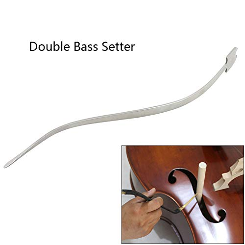 (XuBa Cello/Double Bass Sound Post Setter Upright Stainless Steel Column Hook Tool Strings Instrument Cello Part Accessories Double Bass Setter)