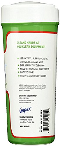 New Wipex Natural Fitness Equipment Wipes for Personal Use, Vinegar with Watermelon Scent - Great for Yoga, Pilates & Dance Studios, Home Gym, Peloton Bike Wipes, Spas & More (4 Canisters, 300 Wipes) by Wipex (Image #4)
