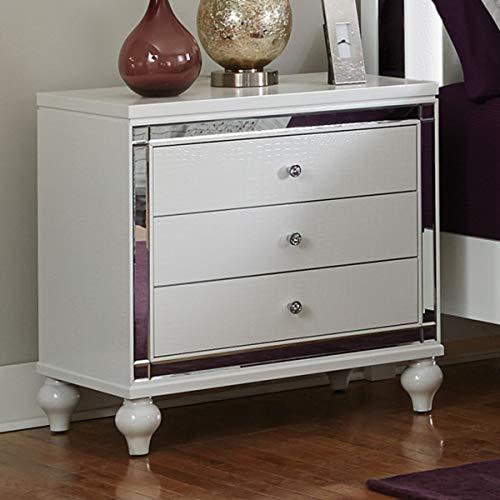 White Bedroom Furniture - Alonza (Nightstand)