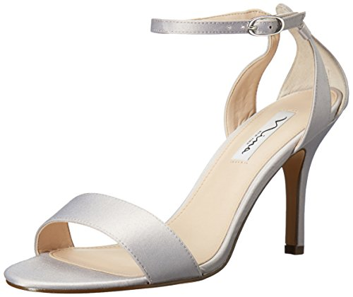 ls M Lustre Donna Satin Da Venetia Us Sandalo Silver 9 q5n8PZ7x