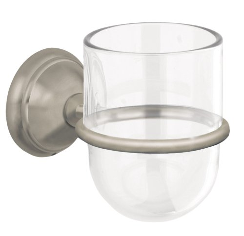 Hansgrohe 06090820 C Tumbler with Holder, Brushed Nickel