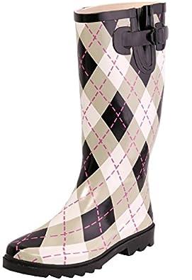 Amazon.com | AimTrend Womens Waterproof Welly Rain Boots