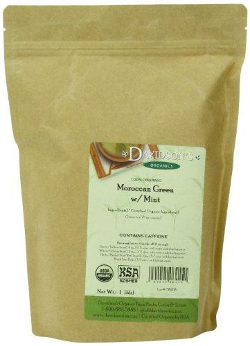 Davidson's Tea Bulk, Moroccan Green with Mint, 16-Ounce Bag