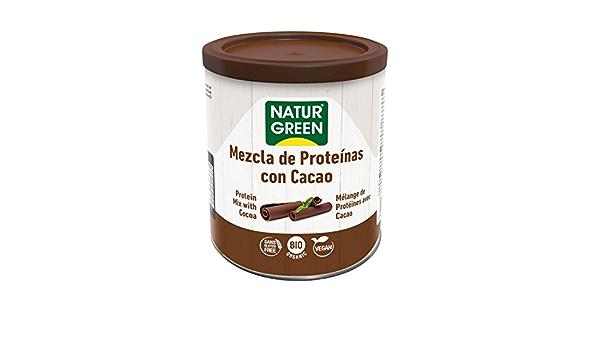 NaturGreen Mezcla de Proteínas con Cacao Bio 250g -Pack de 2 ...