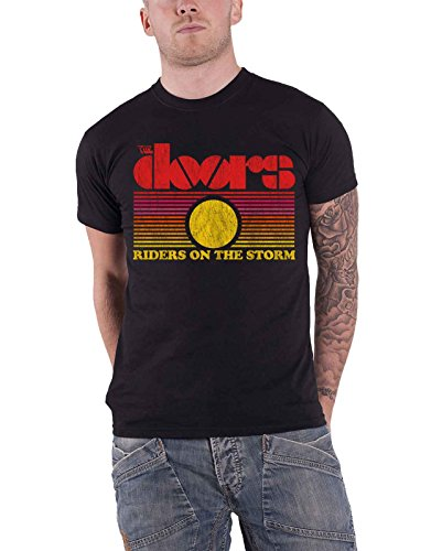 d70205a1 The Doors T Shirt Riders On The Storm Sunset Band Logo Official Mens Black  - Buy Online in Oman. | Apparel Products in Oman - See Prices, Reviews and  Free ...