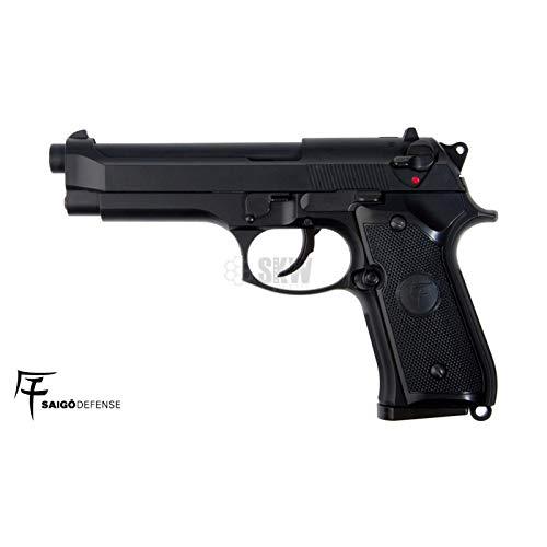 SAIGO Airsoft-Pack Pistolet 92 à Gaz Noir/Semi-Automatique/Puissance 0.5 Joule/avec Accessoires 2