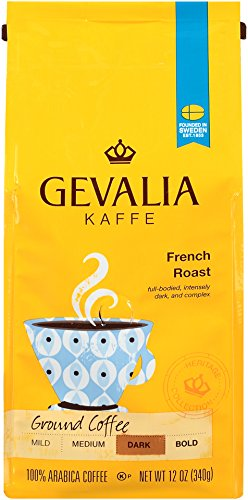 GEVALIA French Roast, Profound, Ground Coffee, 12 Ounce