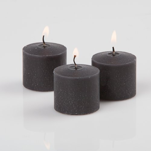 - Richland Votive Candles Black Unscented 10 Hour Burn Set of 72