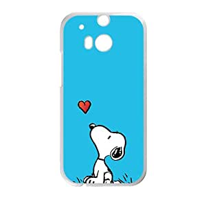 QQQO Lovely snoopy Cell Phone Case for HTC One M8