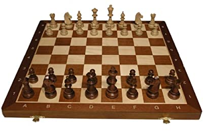"Tournament Chess Set #4 - Folding 16"" board - 1 3/4"" sq - 3"" King"