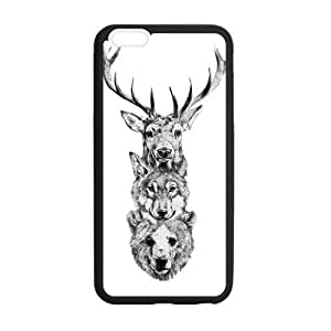 Canting_Good,Deer, Custom Case for iPhone6 Plus 5.5 (Laser Technology)
