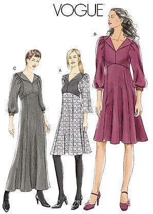Amazon.com: Vogue modern empire dress V8445 sewing pattern - Size 6 ...