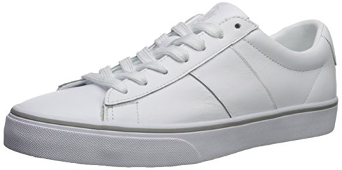 Polo Ralph Lauren Men's Sayer Sneaker, White, 10 D US (Polo Mens Leather)