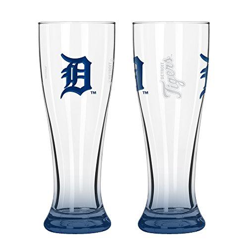(MLB Detroit Tigers Elite Pilsner Set (2-Pack), 16-Ounce)
