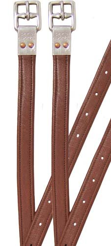 Paris Tack Triple Layer English Stirrup Leathers with Riveted Buckles- 54""