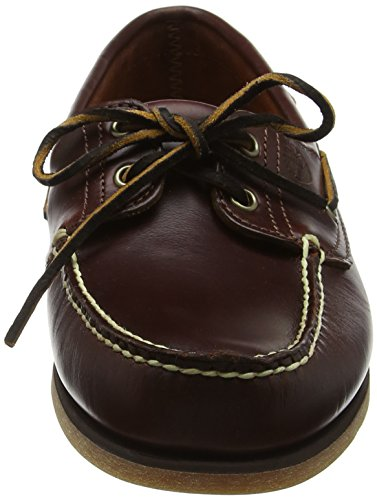 Timberland Men's Classic 2-Eye Boat Shoe, Rootbeer/Brown, 10.5 W