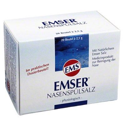 EMSER Nasenspuelsalz physiologisch Btl., 20 St