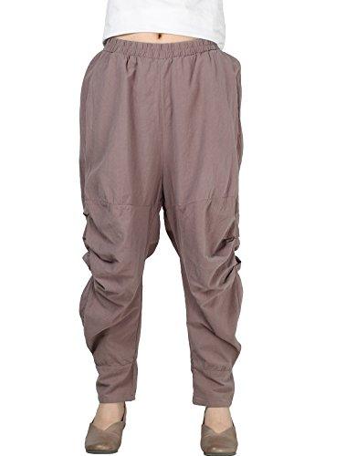 Ruched Cotton Pants - 6